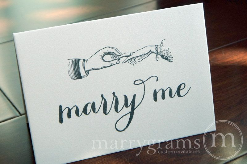 Wedding Card To Your Bride Or Groom Marry Me Day Note Vow