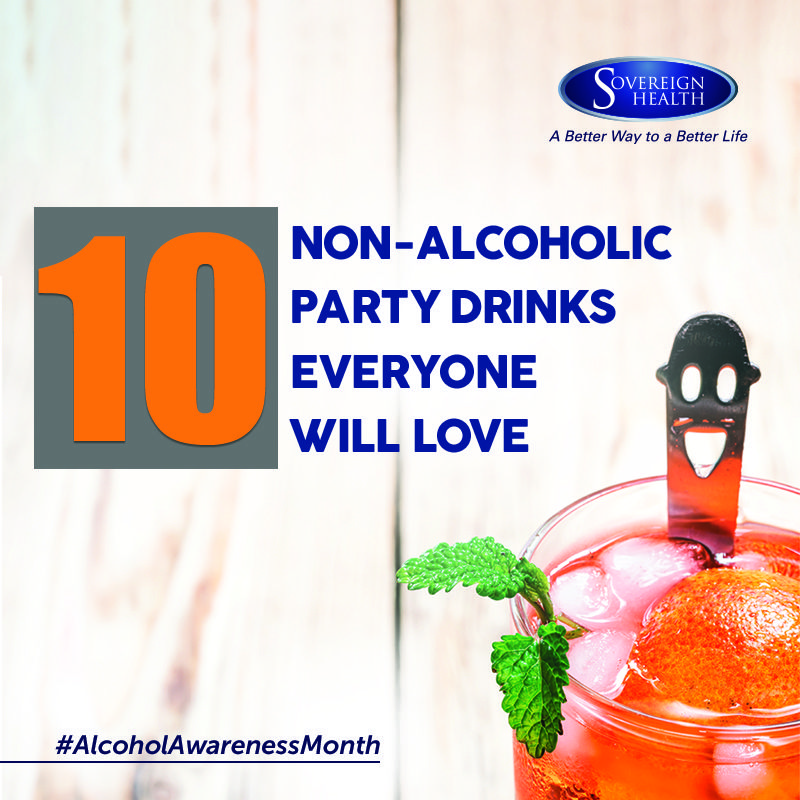 Consider these 10 non-alcoholic drinks to enjoy during your parties this year. http://bit.ly/2nAnvkF #AlcoholAwarenessMonth
