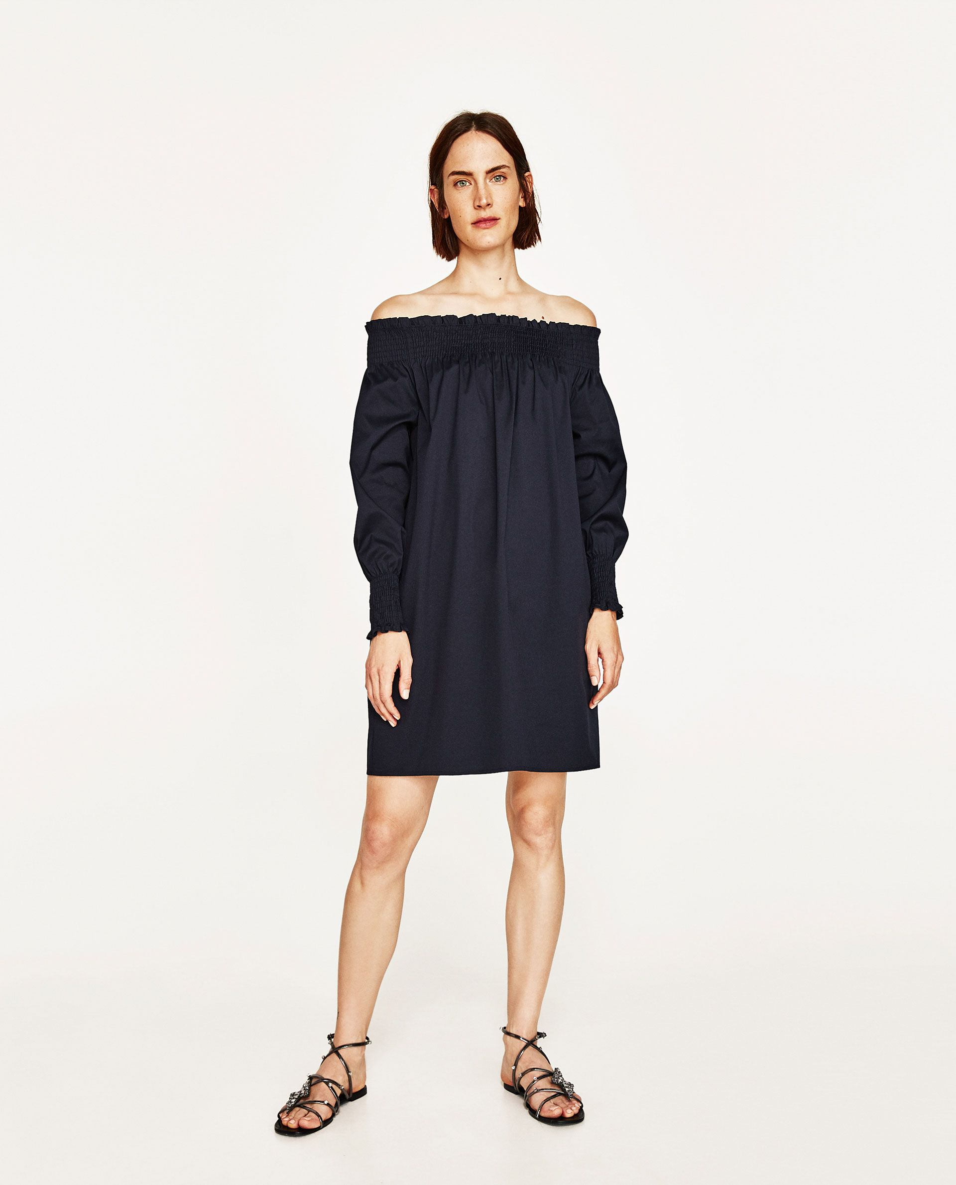 ZARA - WOMAN - OFF-THE SHOULDER DRESS