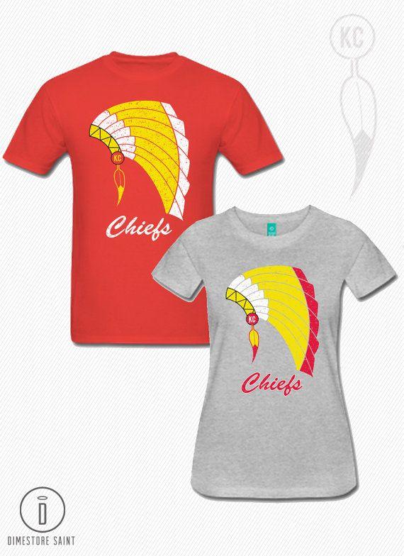 3d5bba27200 KC Chiefs Headdress T Shirt Men's and by DimestoreSaintDesign ...