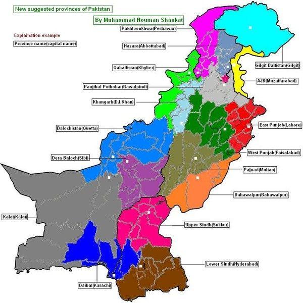 Pakistan New Provinces Map Pakistan Abc Pinterest Pakistan - Pakistan language map