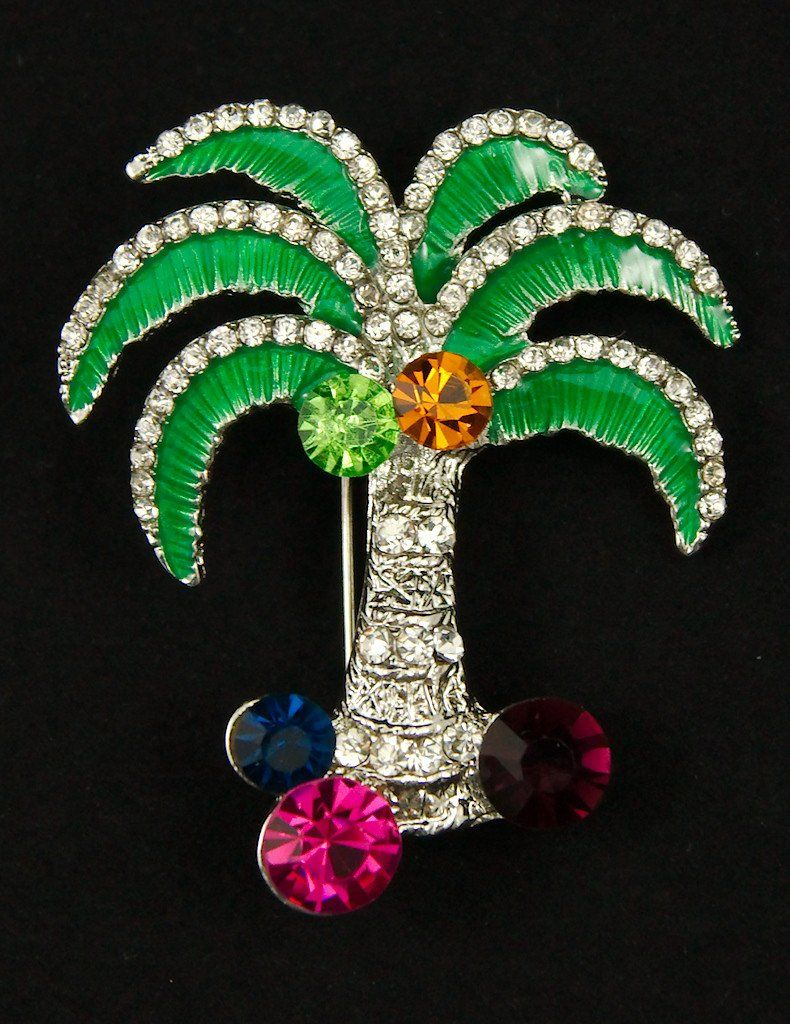 Palm Tree Brooch Pin – Cats Like Us