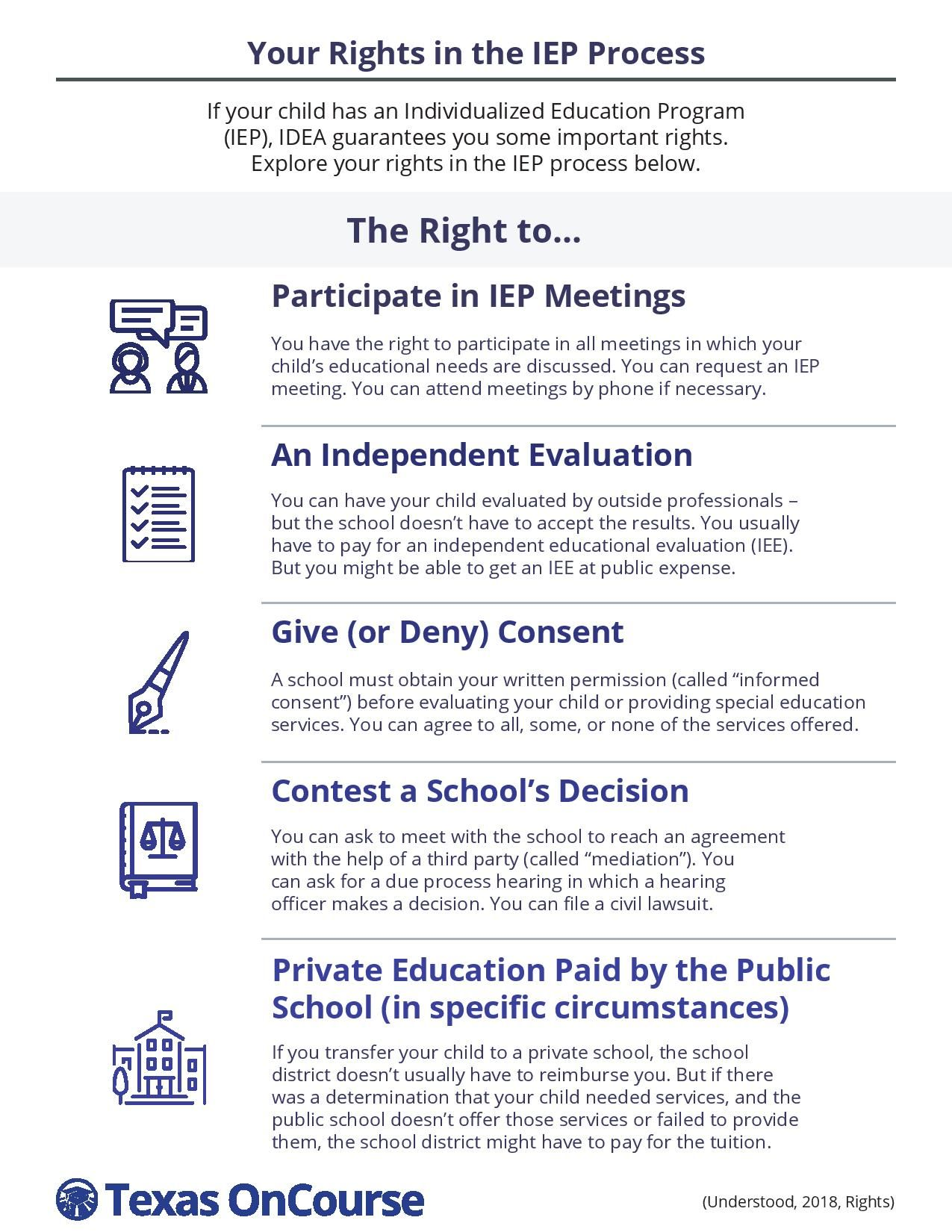 Your Rights in the IEP Process: Click link for PDF Download
