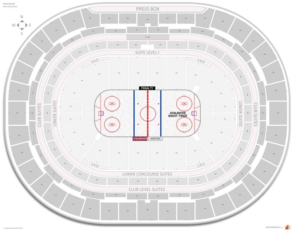 Pepsi Center Avalanche Seating Chart Di 2020