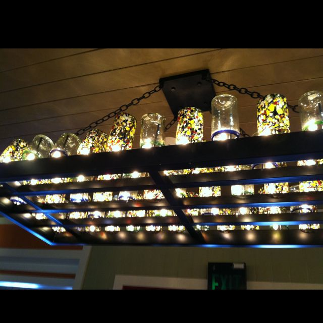 super cool! light fixture--glasses and lights. really cool and