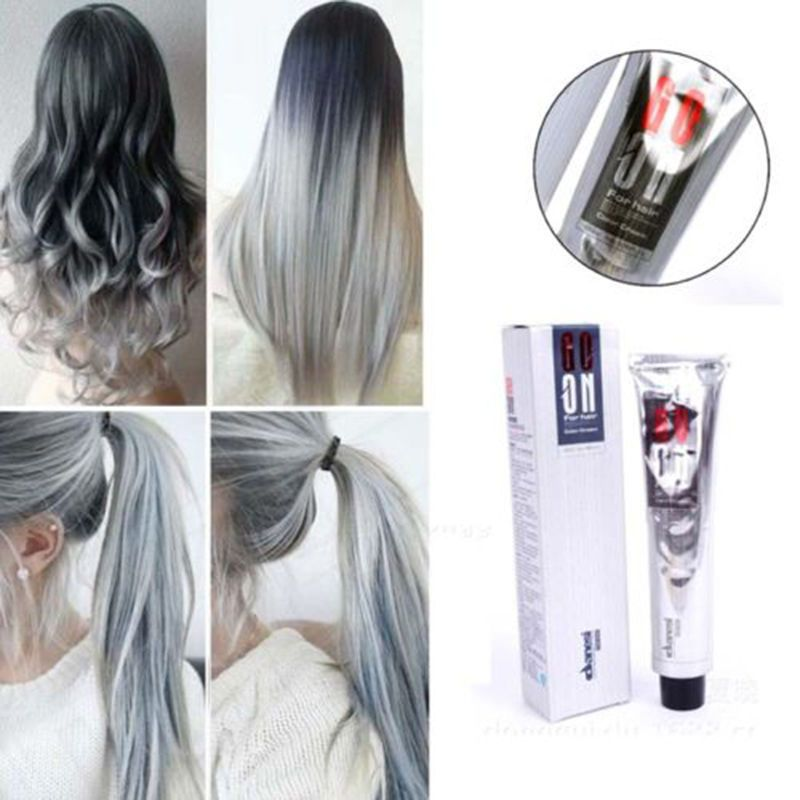 100ml permanent hair color cream light grey silver color unisex clean hair or dirty hair before coloring clean or dirty hair before coloring