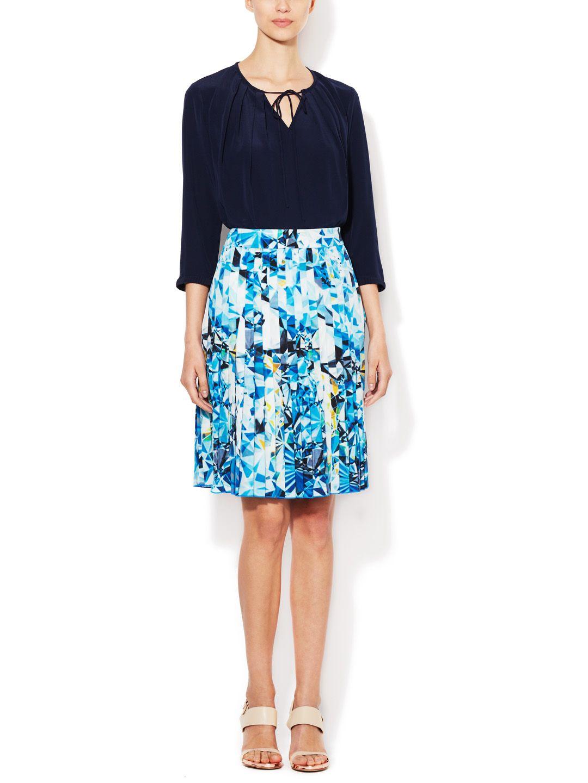 Jewel Print Silk Crepe de Chine Skirt by Magaschoni - $99.00 at Gilt