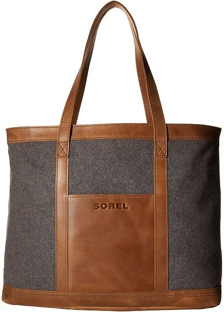 c0829deb6 SOREL Working Wool Tote Great size and love the wool and leather should  hold up to winter weather.