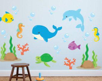 Good Fish Wall Decals   Ocean Wall Decals   Ocean Fabric Wall Decals   Sea Life  Wall