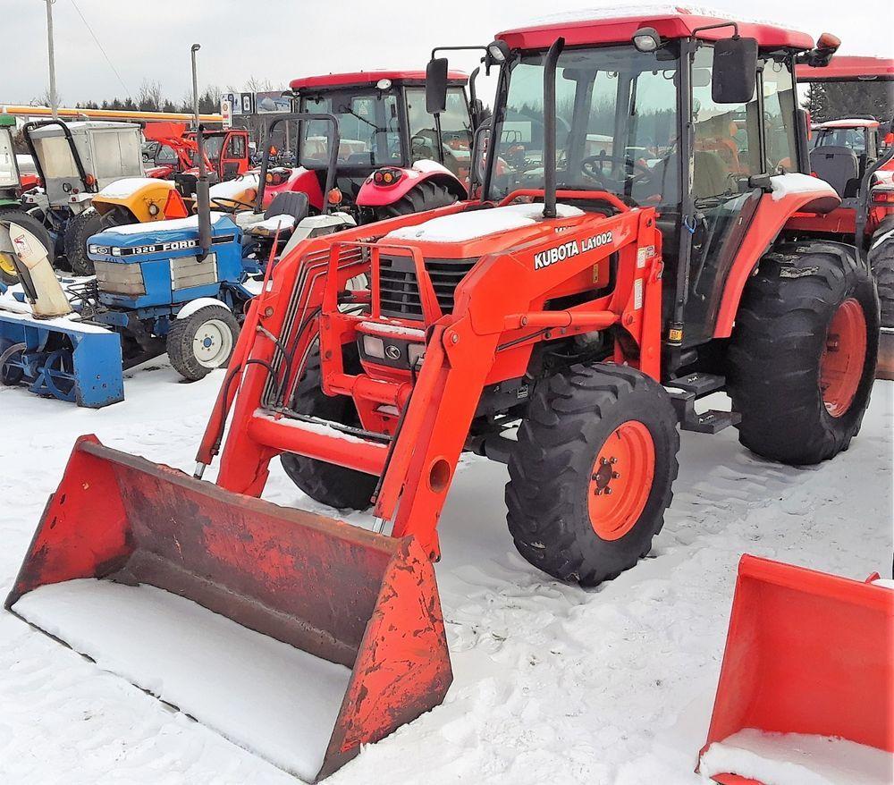 Genuine 2000 Kubota M5700sdc 4wd Tractor La1002 Loader 1530 Hours Kubota
