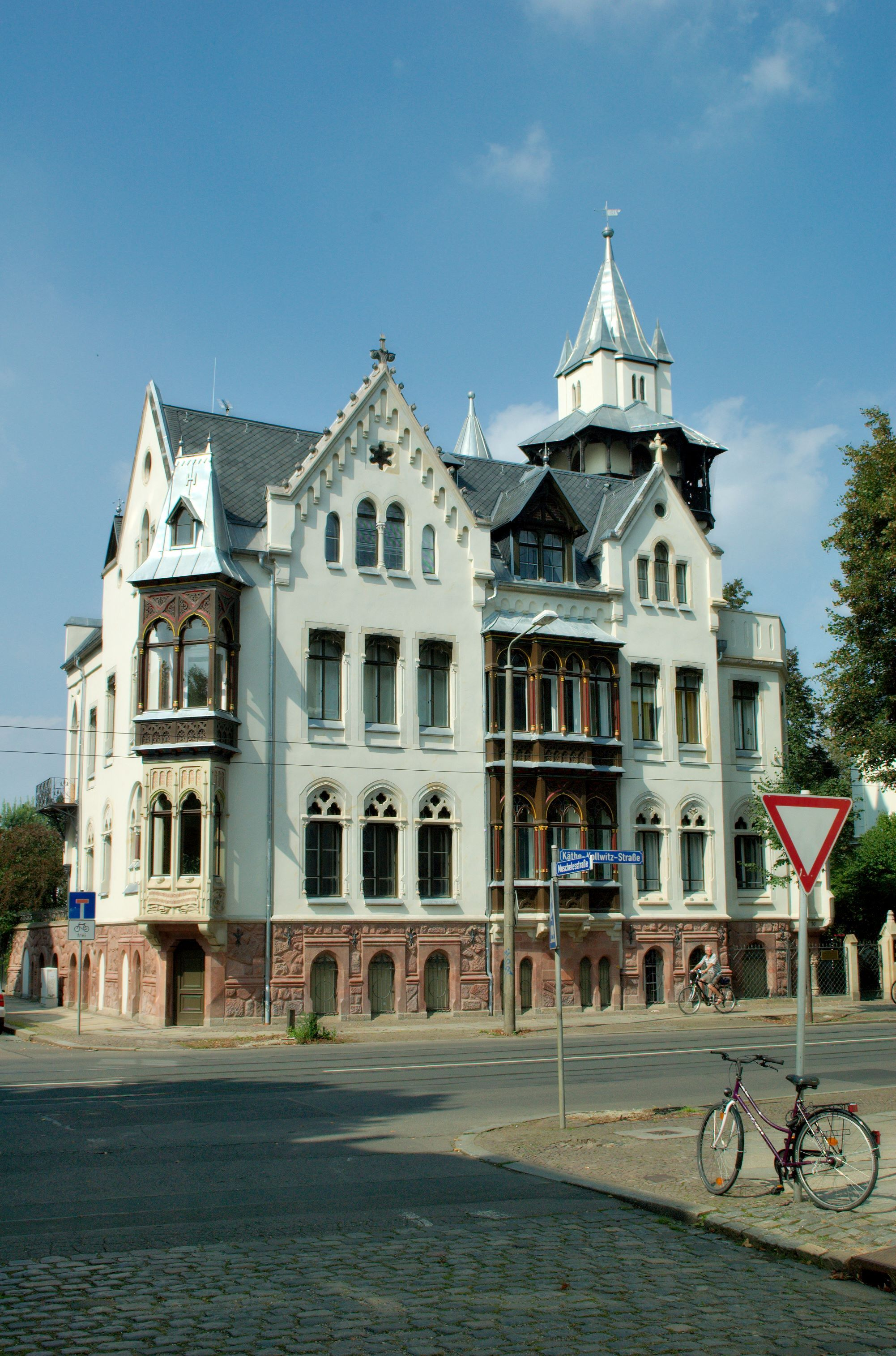 Leipzig, erbaut 1873. Leipzig, Architektur, Gebäude