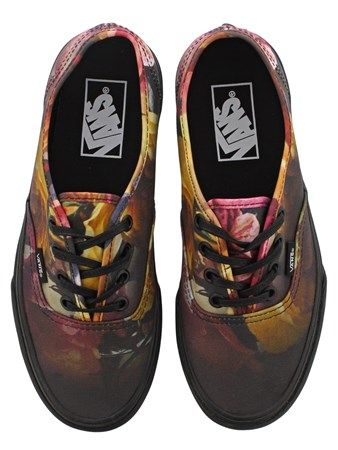8542ddd56cd Buy Vans Ombre Floral Authentic Black Womens Trainers