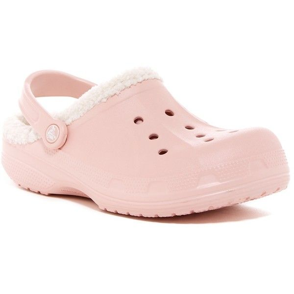 e37e68bf3 Crocs Faux Fur Lined Clog ( 25) ❤ liked on Polyvore featuring shoes ...
