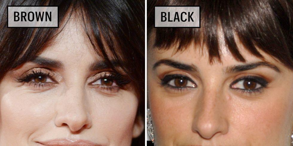 Photo of Celebrities Wearing Black Versus Brown Eyeliner – Why You Should Wear Brown Eyeliner