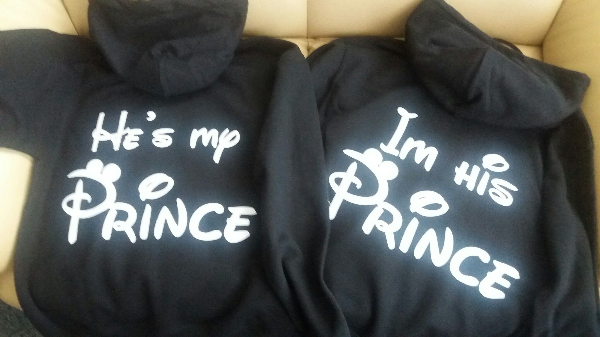 9317ade9b6 LGBT Gay I'm His He's Mine Matching Pullover Hoodies, Married With Mickey