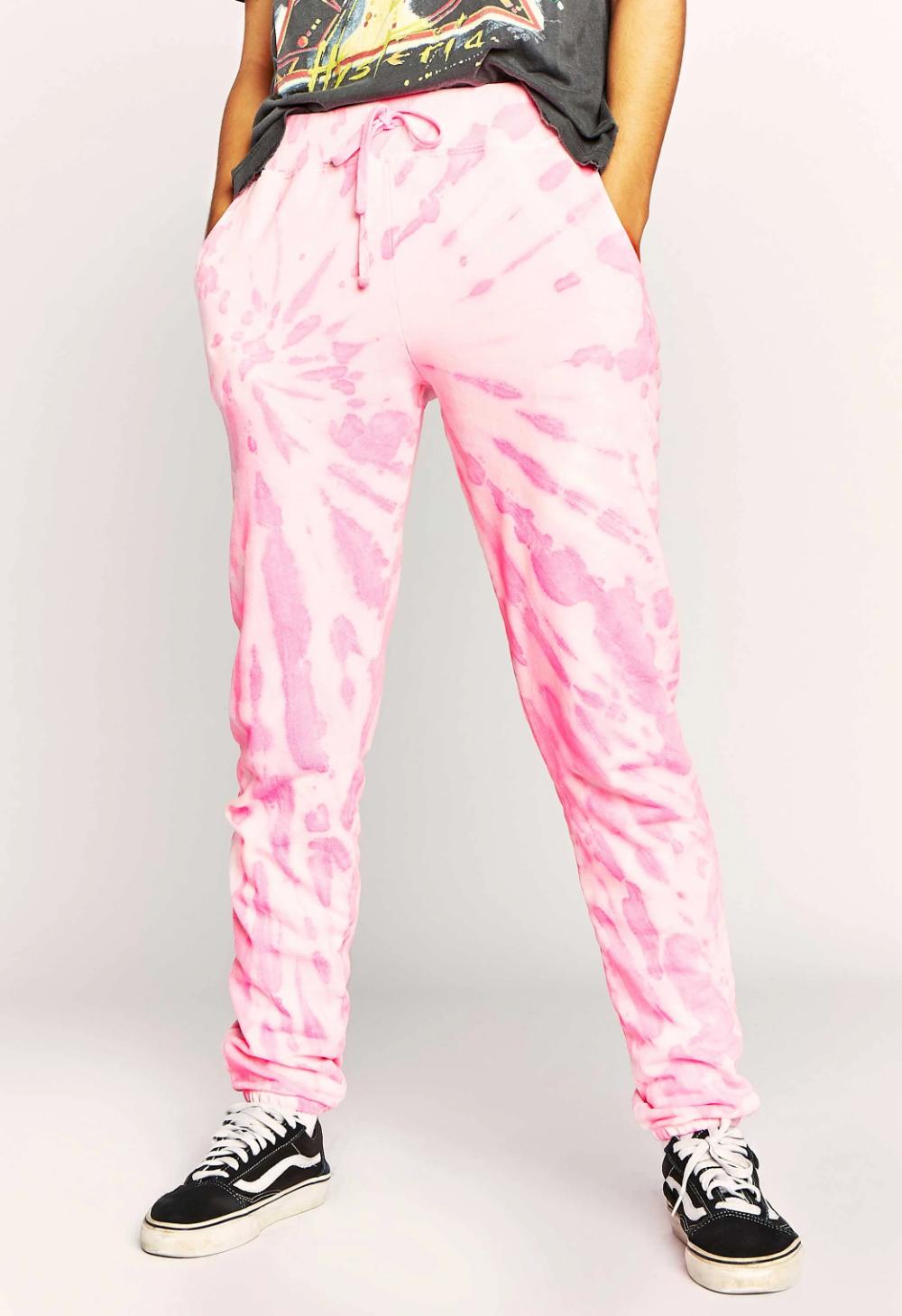 Tie Dye Jogger Sweatpant In Pink Daydreamer Sweatpants Tie Dye Pink Tye Dye