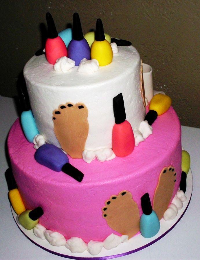 Nail Cake Morgan Taylor Polished Up Punk Swatches: Nail Polish Birthday Party Ideas Nails Regina Cg Salon