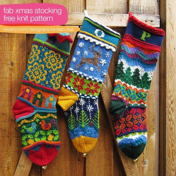 Knitted Christmas Stocking Patterns Free Pattern Xmas Stocking