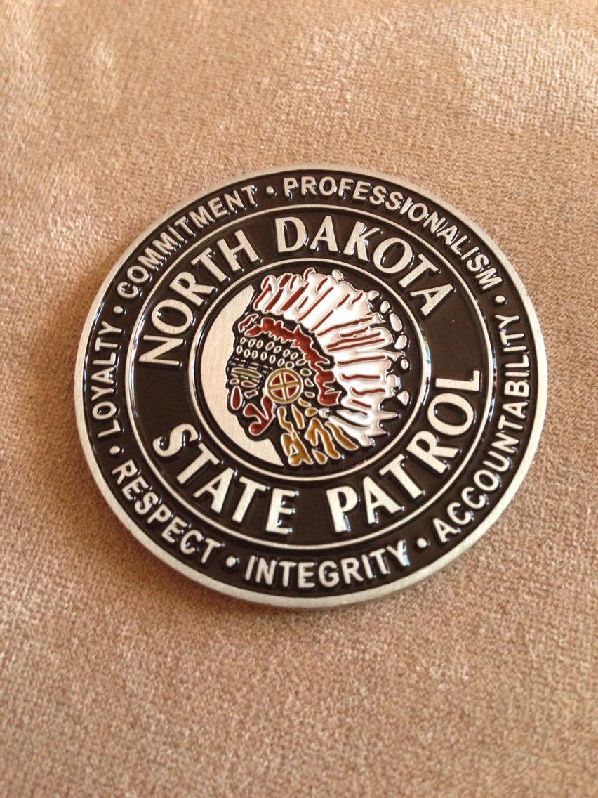 North Dakota State Patrol Police Challenge Coins Star Badge Challenge Coins