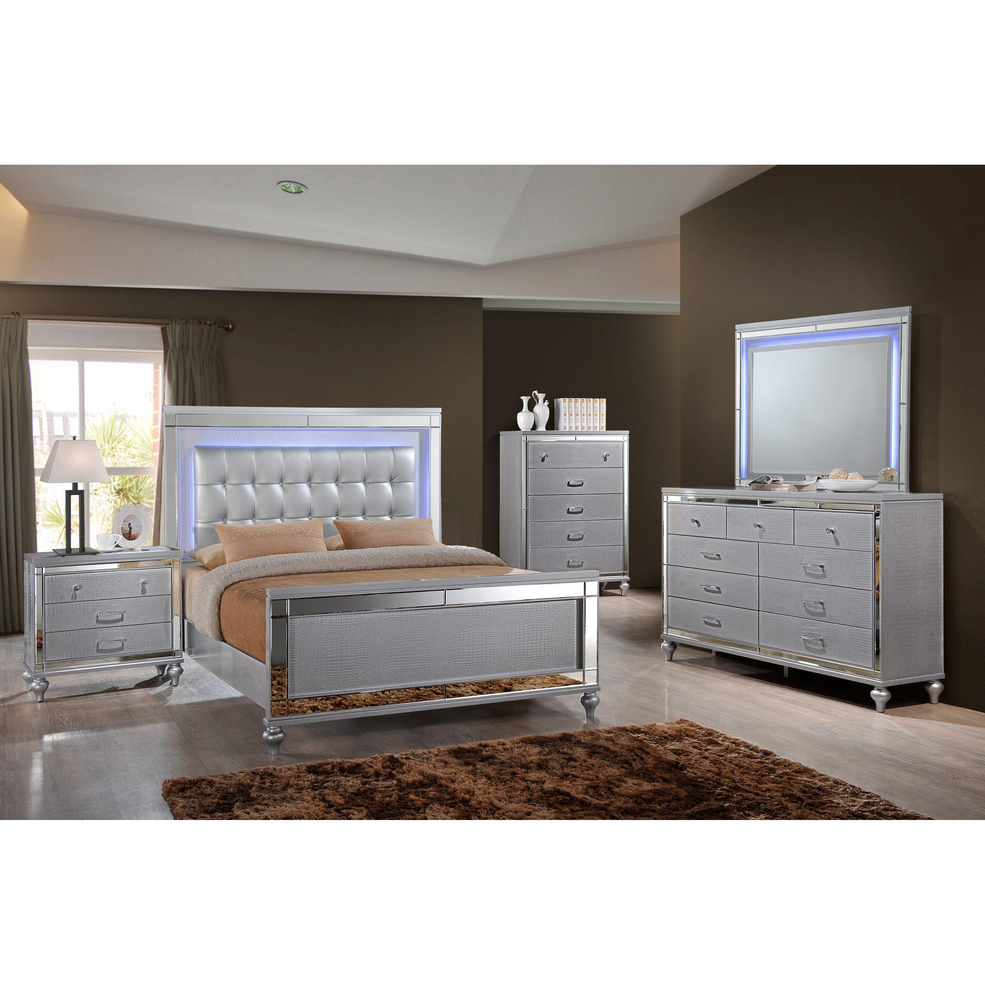 Home Source Industries Kelly Platform Bed Set - H-1005-Q5PC