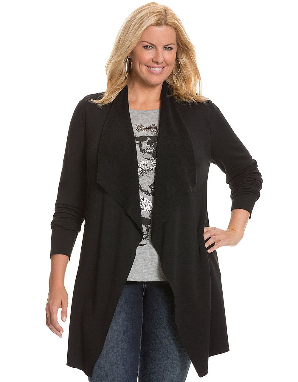 Cozy draped overpiece by Lane Bryant | Lane Bryant