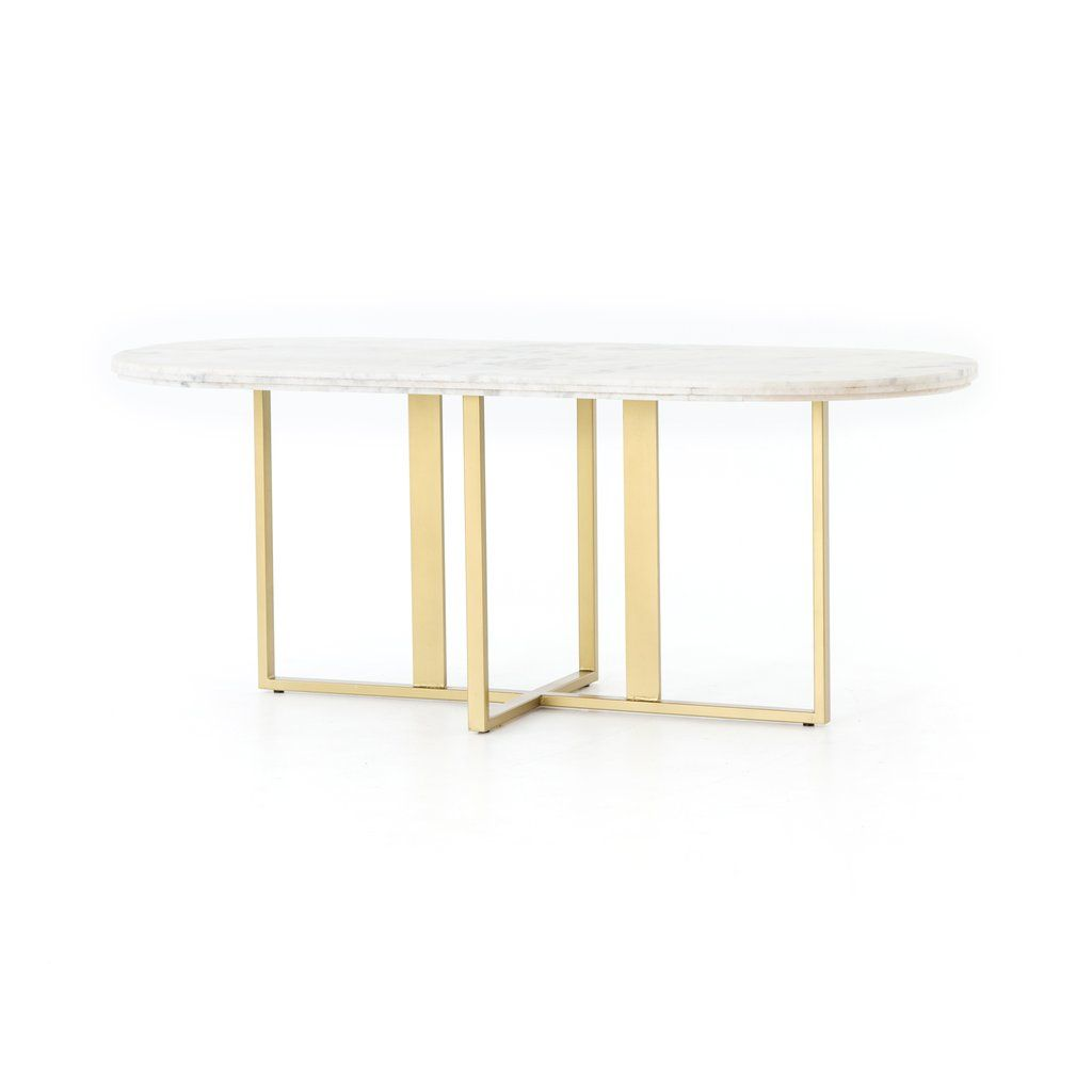 Devan Oval Dining Table Dining Table Marble Oval Table Dining Modern Dining Room Tables
