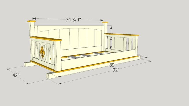 Porch Bed Swing For Twin Mattress 3d Warehouse Porch Bed Porch Swing Bed Diy Porch Swing