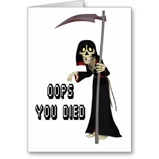 Cartoon grim reaper oops you died funny death greeting cartoon grim reaper cards greeting photo cards bookmarktalkfo Image collections