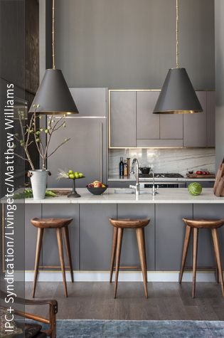 Gold gerahmte Küchenzeile Kitchens, Apartment makeover and