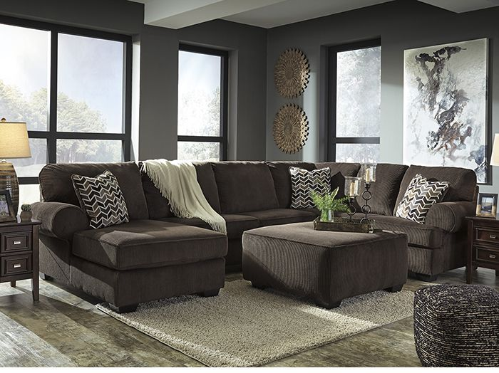 Cabot 3 Pc Sectional Stretch Out And Relax On The Chaise Or Have Guests Over And Seat Everyone Comfortably On Ashley Furniture Furniture 3 Piece Sectional
