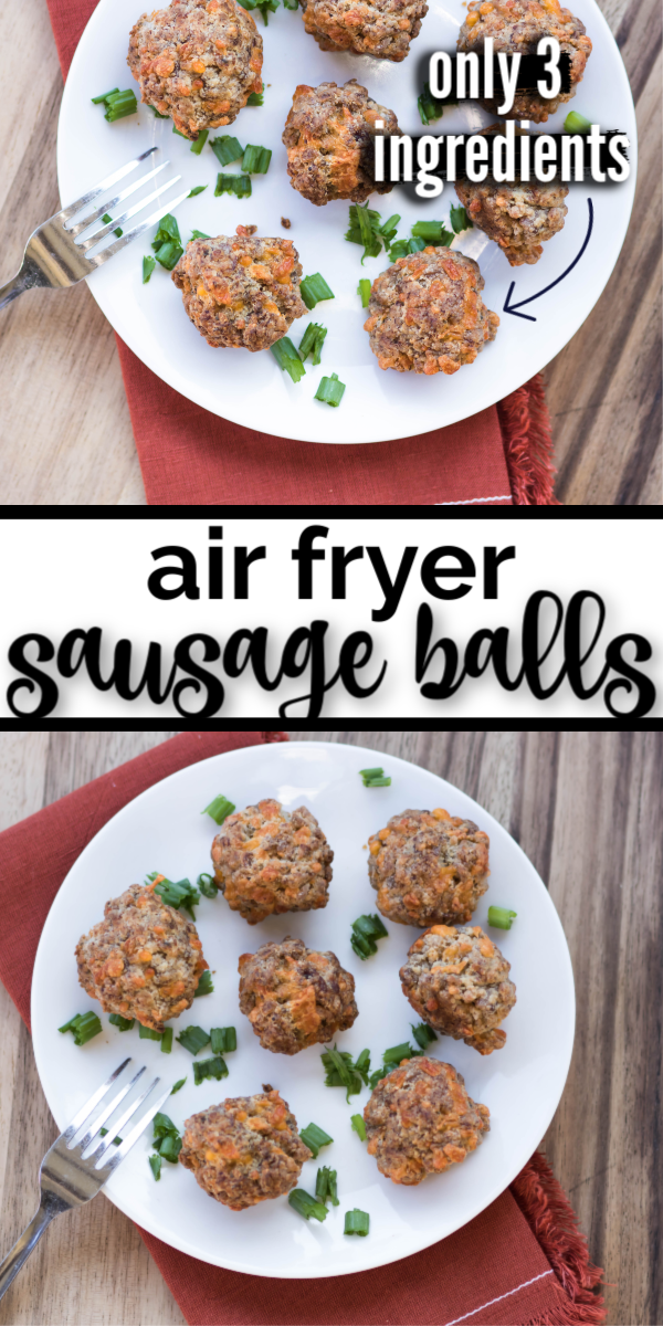 Air Fryer Sausage Balls Sausage balls, Appetizer recipes