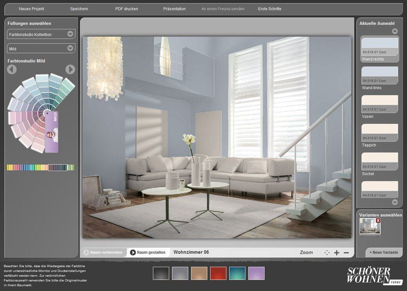 kostenloser interaktiver farbdesigner sch ner wohnen farbe wohnzimmer sch ner wohnen farbe. Black Bedroom Furniture Sets. Home Design Ideas