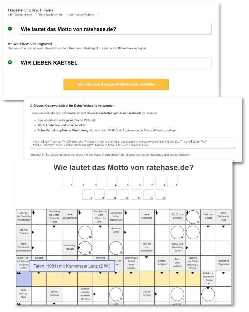 Kreuzworträtsel Online Kostenlos Ohne Anmeldung Erstellen