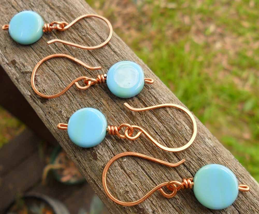 Crochet Stitch Markers Set of 4 Opaque Blue and by ChatonDesigns, $9.00