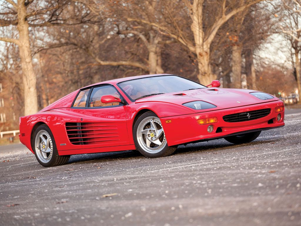 1995 Ferrari F512 M estimate $325,000 - $375,000. Only 11,000 miles and described as unquestionably one of the finest examples of its kind. These are hot property right now.