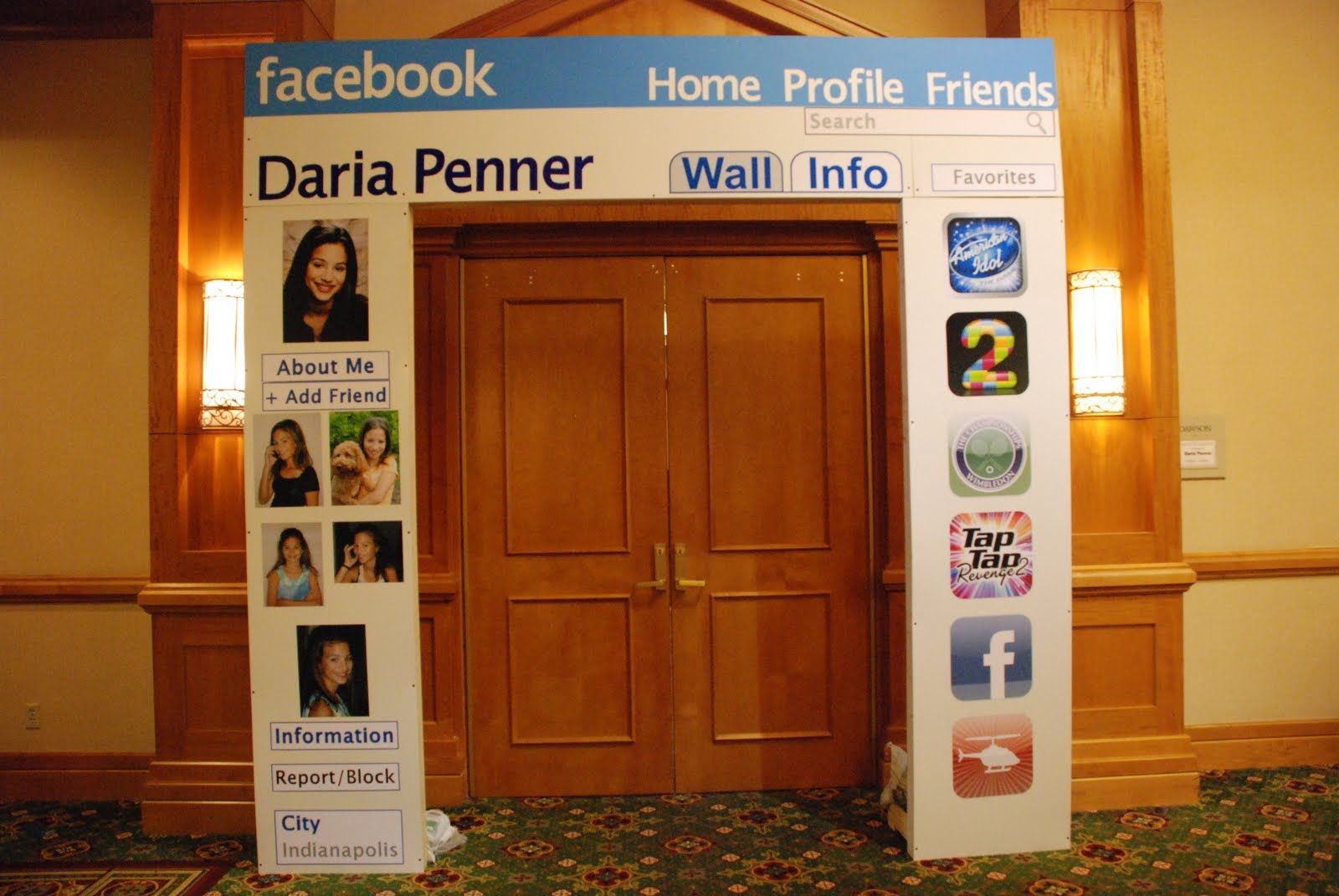 Sign of the times (aka generation)...Facebook party theme?