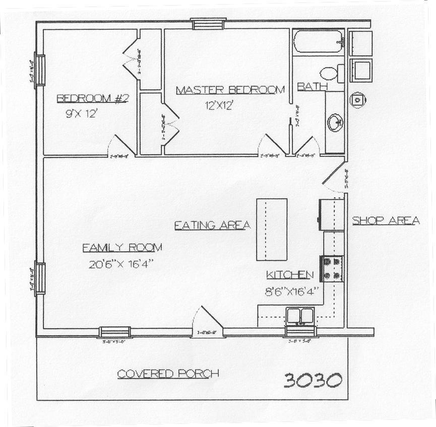 Rau Custom Builders Barndominium floor plans, Loft floor