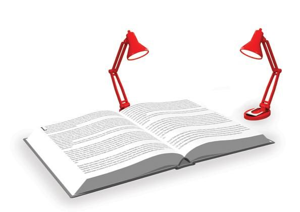 Tiny Tim Book Light - Red - Clips To Your Books Or Place It By Your Laptop