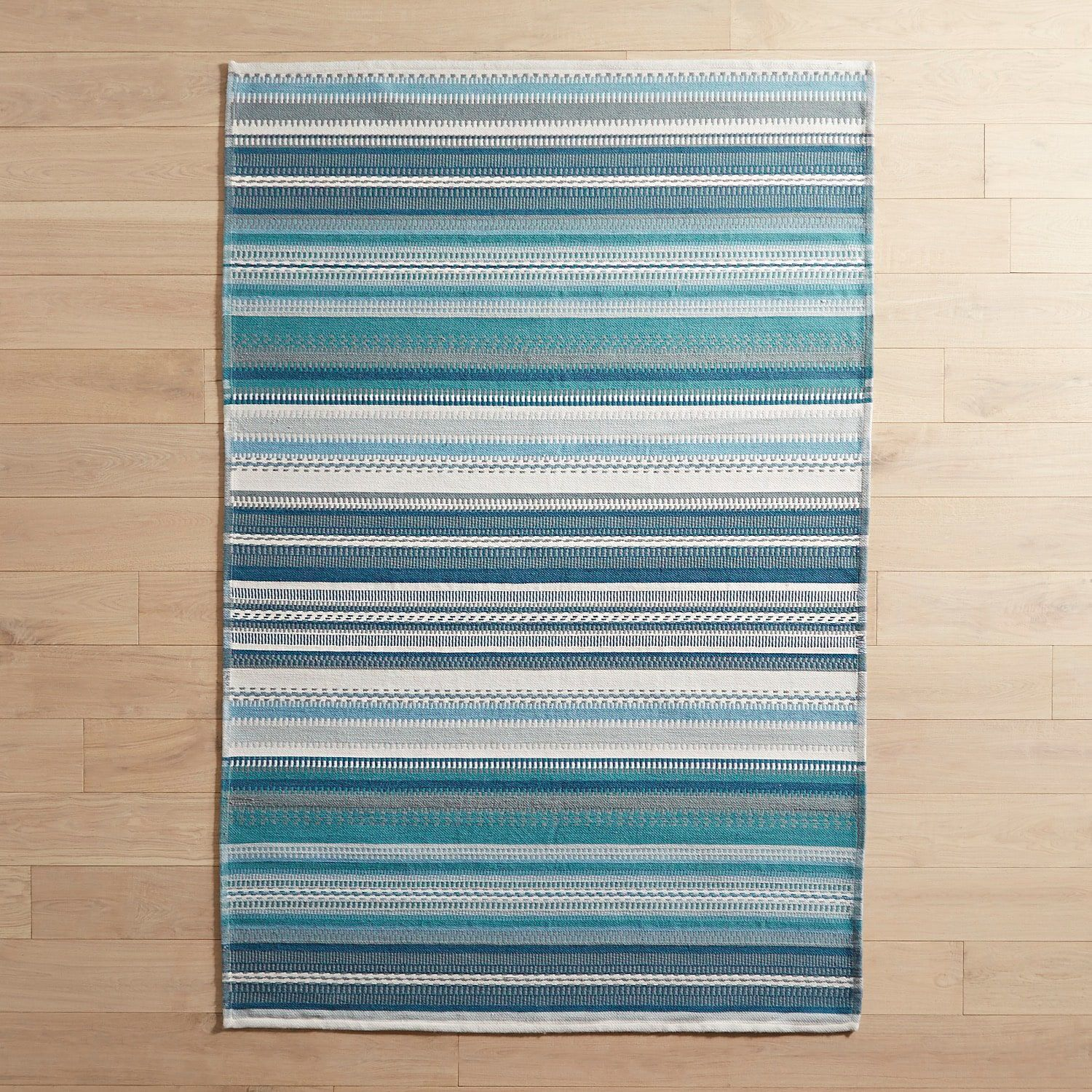 Tapestry Blue Striped 8x10 Rug With Images Blue Striped Rug