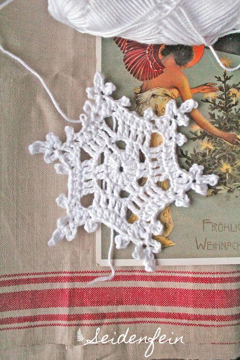 Häkeln, Schneeflocken, Anleitung,Tutorial, crocheting, crochet ...