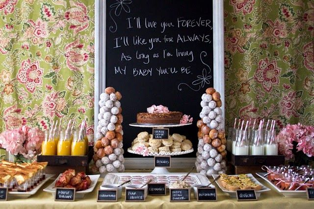 Seriously the cutest baby shower setup ever!