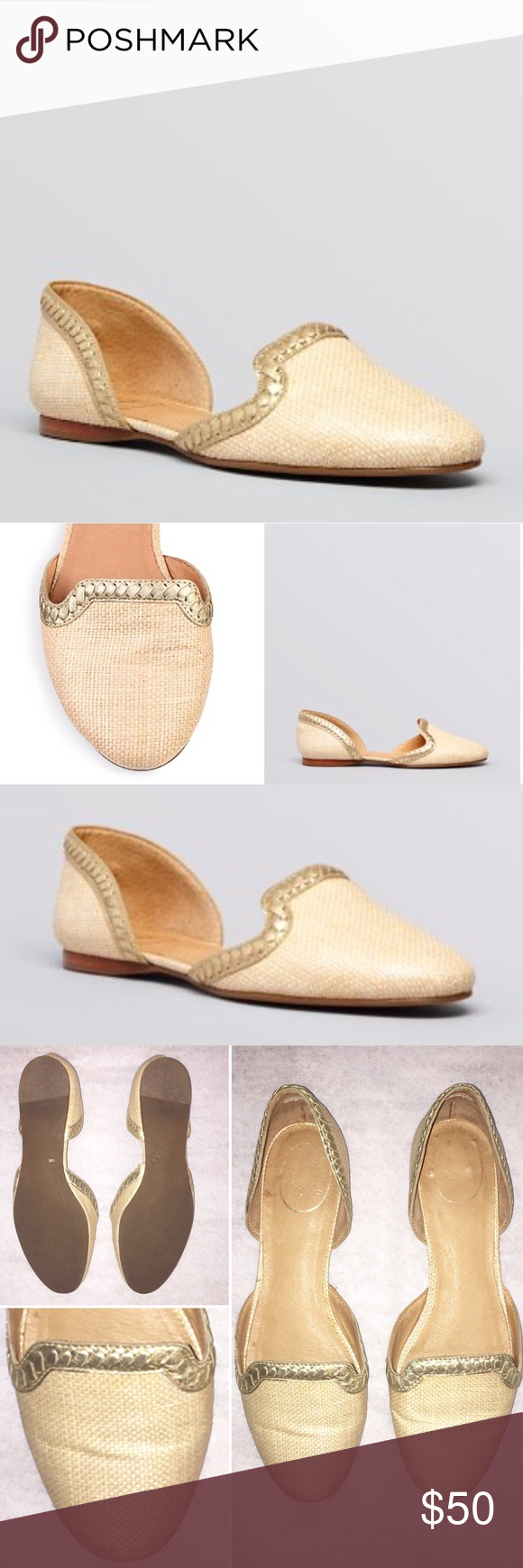 Jack Rogers D'Orsay Contessa Flats | Abs, Jack rogers and Gold leather