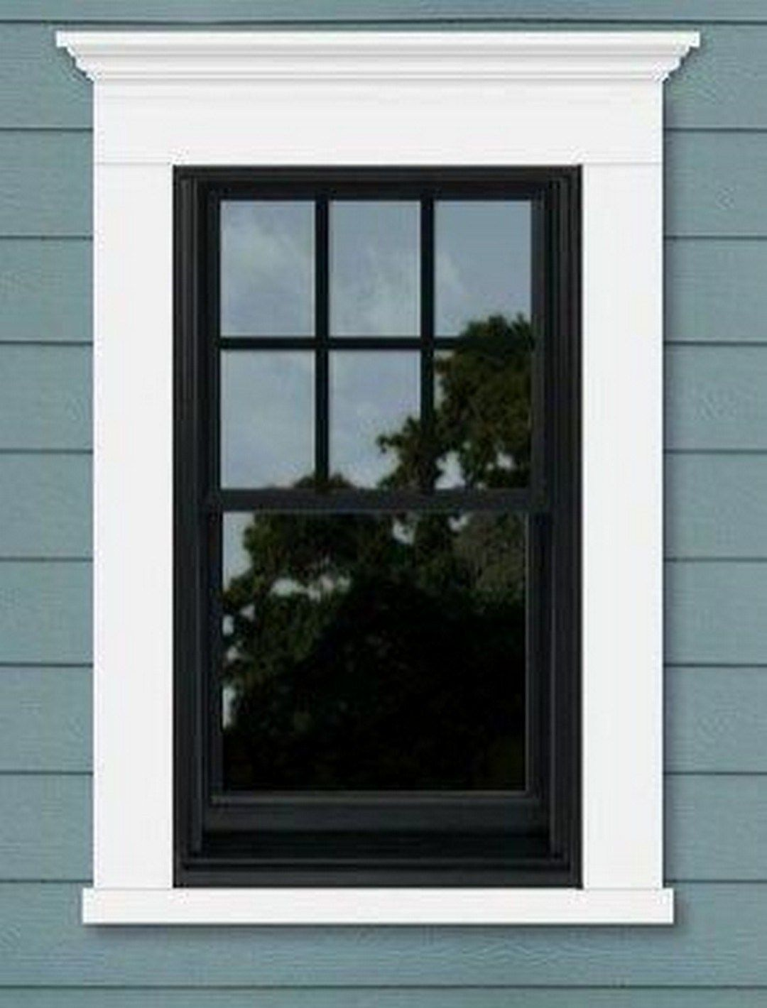 22 Modern Farmhouse Home Office With Black Window Trim (22