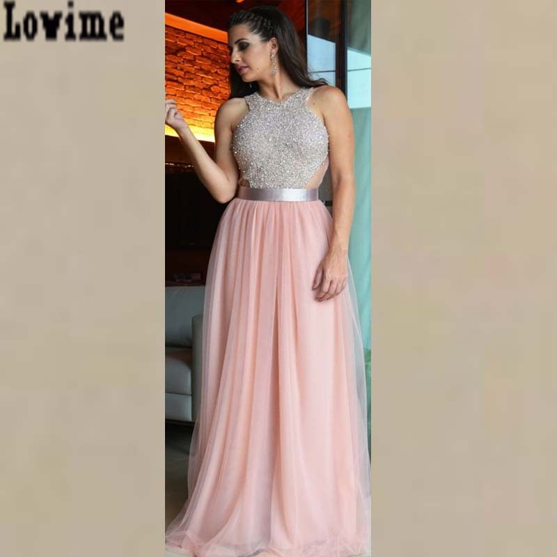 Cheap Pinterest caliente Beads cabestro baile vestidos Largos 2016 A ...