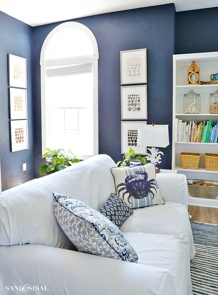 Nautical Media Room Makeover | Coastal, Room and Living rooms