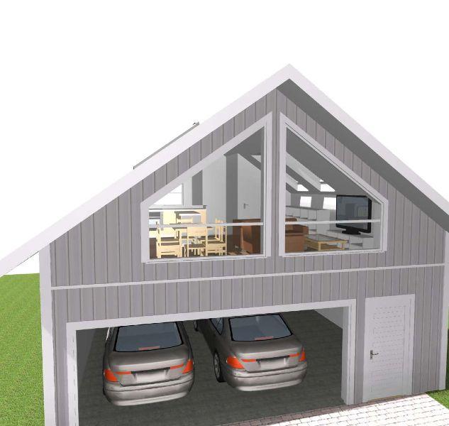 bilderesultat for dobbel garasje med leilighet garasje