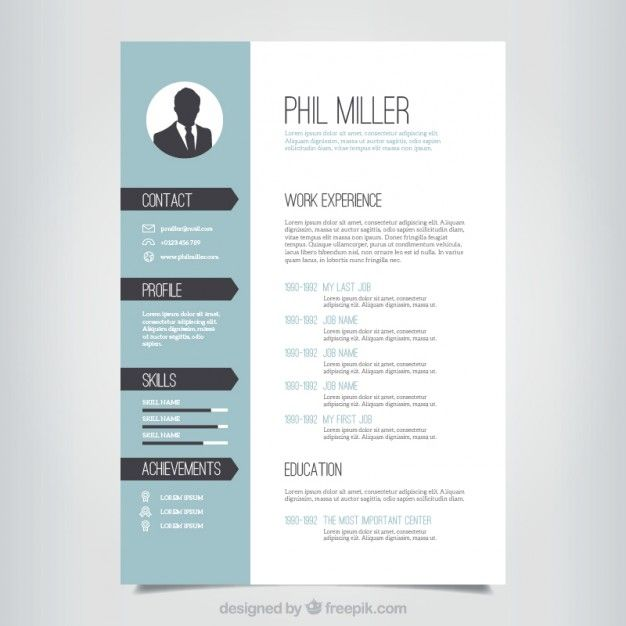 modelo de currículo elegante Resume template free, Template and - resume template for free download