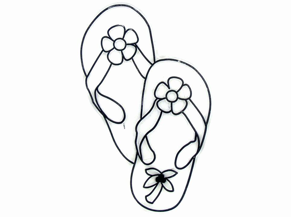 Flip Flop Coloring Page Beautiful Flip Flops Drawing At