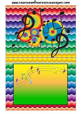 Imprimibles De Notas Musicales 3 Notas Musicales Fiesta