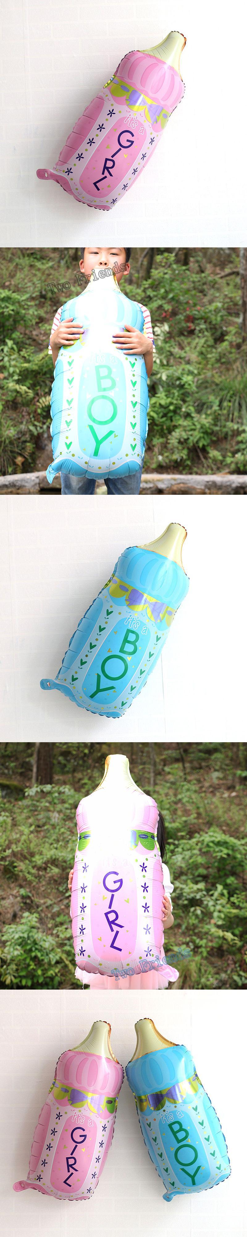 Large Baby Bottle Decoration 1Pc Large Milk Bottle Shape Foil Balloons Birthday Party